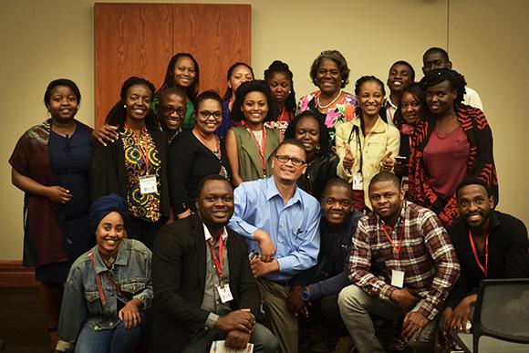 Linda Thomas-Greenfield and Mandela Washington Fellows