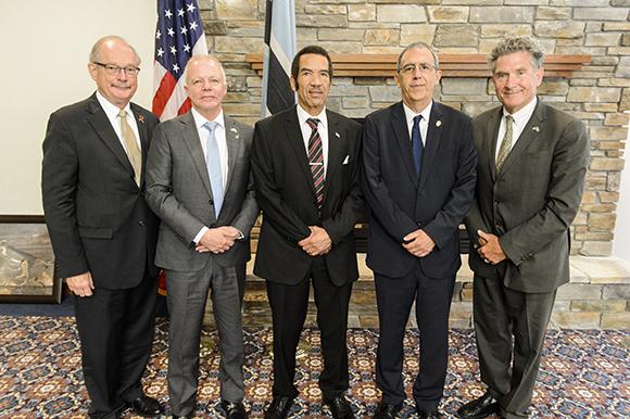 Ambassador John Lange, Ambassador David Newman, President Ian Khama,  Dean Guido Podestá,  and Tony Carroll.