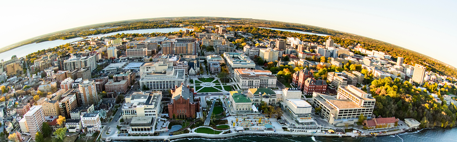 Aerial image of UW campus