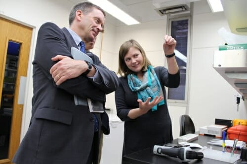 Mark Green visits UW lab
