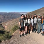Ananda Deacon and fellow students at Cuesta de Lipan in Argentina
